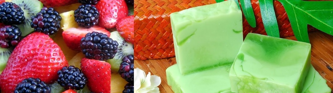 A Selection of Soothing, Handmade, Natural Fruit Soaps.