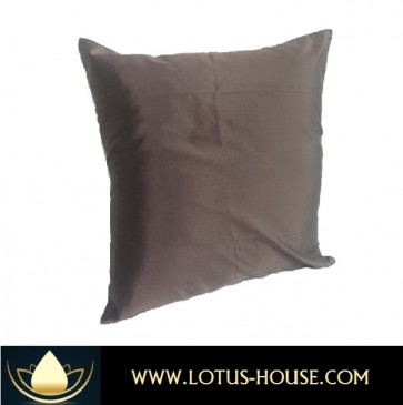 Brown Silk Pillow Case @ Lotus House