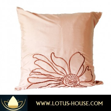 Brown Silk Pillowcase - Floral Collection @ Lotus House