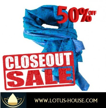 CLOSE OUT !!! 1/2 Price Sale - Birdie Silk Scarf @ Lotus House