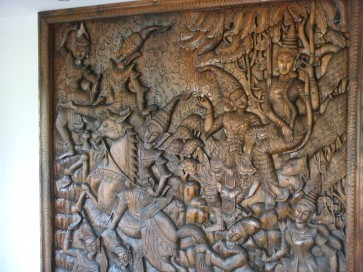 Large Teak Wall Carving-handmade-Burma-unique-One of a Kind