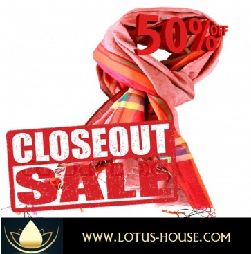 CLOSE OUT !!! 1/2 Price Sale - Sharp Look !  Red Silk Scarves @ Lotus House - RE0960