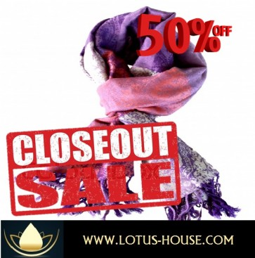 CLOSE OUT !!! 1/2 Price Sale - Pasley Pattern Silk Scarf @ Lotus House - RE0968
