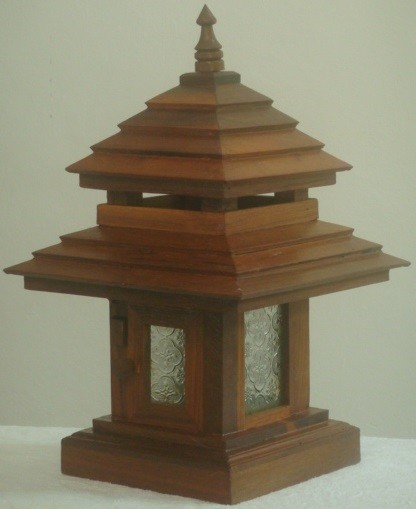 wooden lamp post teak wood post lamp lotus house 1175