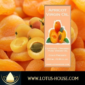 Apricot Kernel Virgin Oil - Organic Pure Virgin Oils (CP) @ Lotus House