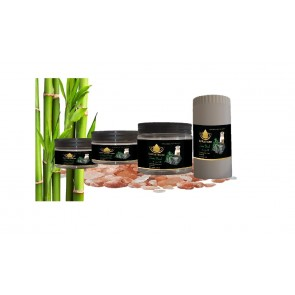 Bamboo Charcoal & Goat Milk Aromatic Himalaya Bath Salt @ Lotus House