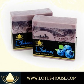 Blueberry Natural Handmade Soap @ Lotus House
