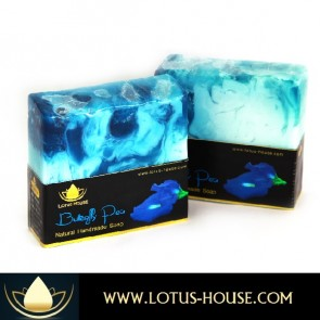 Blue Butterfly Pea Natural Handmade Soap @ Lotus House