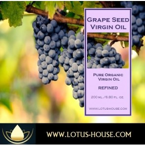 Grapeseed Virgin Oil - Organic Pure Virgin Oils @ Lotus House