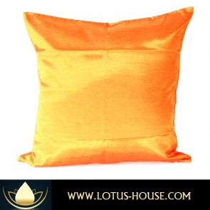 Golden Orange Silk Pillow Case