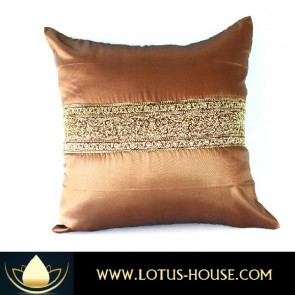 Brown Silk Pillowcase - Asian Collection @ Lotus House