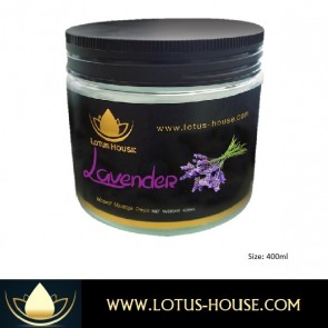 Lavender Natural Massage Cream - 400ml @ Lotus House