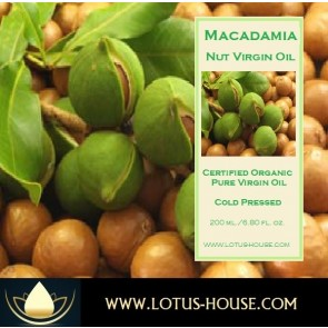 Macadamia Nut Virgin Oil - Organic Pure Virgin Oils @ Lotus House