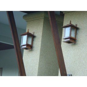 Teak wall lamp - sconce