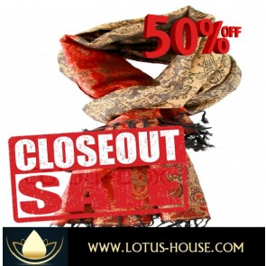 CLOSE OUT !!! 1/2 Price Sale - LH Favorite Silk Scarf @ Lotus House - RE0954