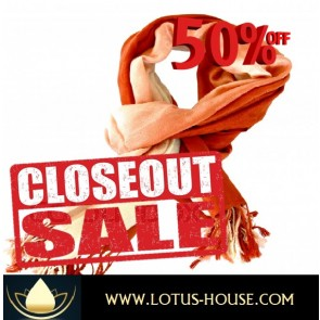 CLOSE OUT !!! 1/2 Price Sale - Brown & Cream Silk Scarf @ Lotus House - RE0955