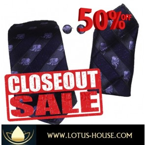 CLOSE OUT !!! 1/2 Price Sale - Chang Silk Tie - (Purple) @ Lotus House