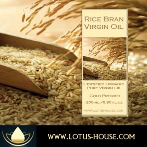 Organic Pure Rice Bran Virgin Oils @ Lotus House