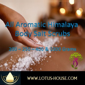 Aromatic Himalayan Body Salt Scrubs @ Lotus House