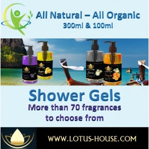 Natural Shampoos - 300ML & 100ML @ Lotus House