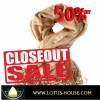CLOSE OUT !! Lite Brown Silk Scarf - RE0729