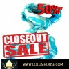 CLOSE OUT !! Blue & White Silk Scarf  (RE0731)