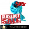 CLOSE OUT !! Blue Hibiscus Silk Scarf (RE0951)