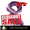 CLOSE OUT !! Loose Woven Purple Silk Scarf (RE0953)