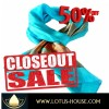CLOSE OUT !! Simply Elegant Blue Silk Scarf (RE0956)